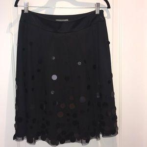 Ann Taylor black A-line skirt